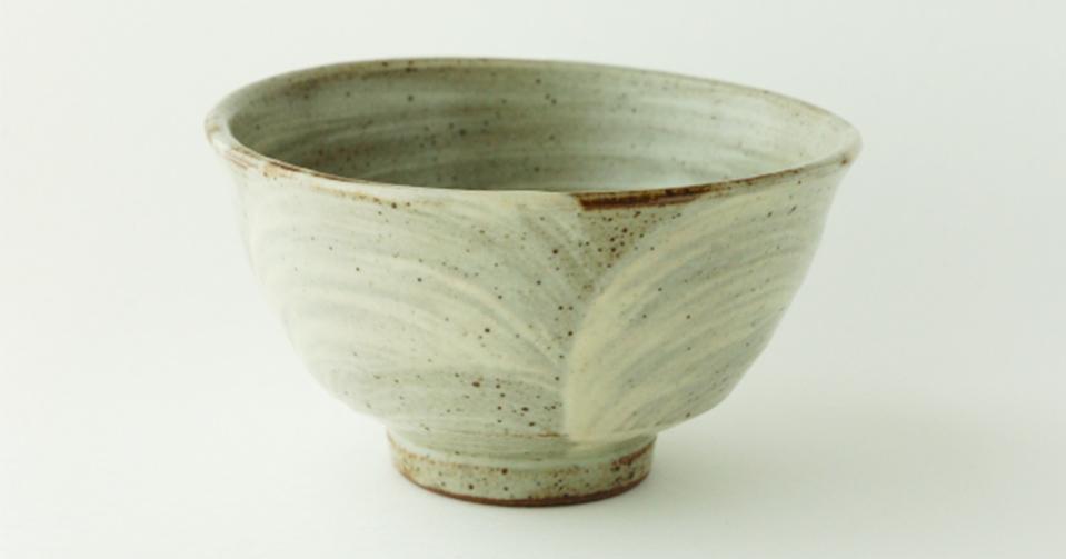 益子焼の特徴である、温もりがある茶碗
