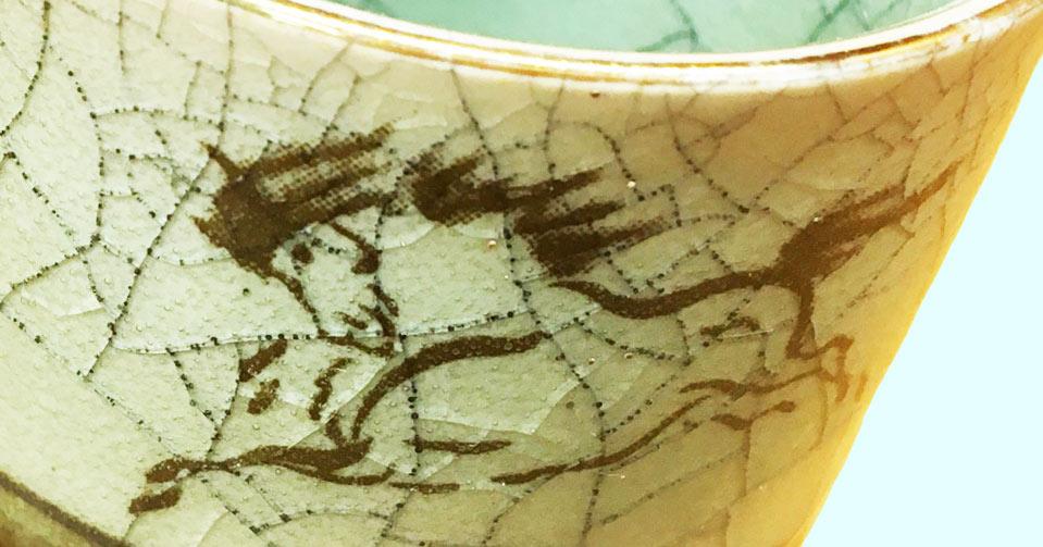 大堀相馬焼の特徴である、馬の絵